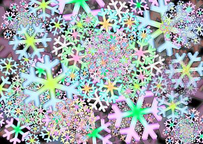 Digital Art - Snowflake One by Vitaly Mishurovsky
