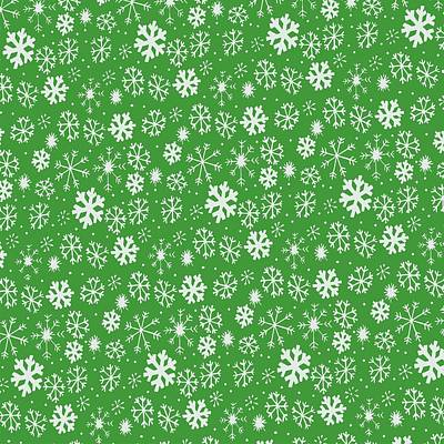 Painting - Snowflake Snowstorm With Emerald Green Background by Taiche Acrylic Art