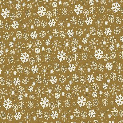 Digital Art - Snowflake Snowstorm With Golden Background by Taiche Acrylic Art