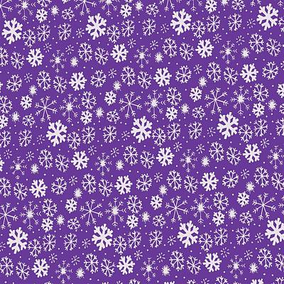 Painting - Snowflake Snowstorm With Purple Background by Taiche Acrylic Art
