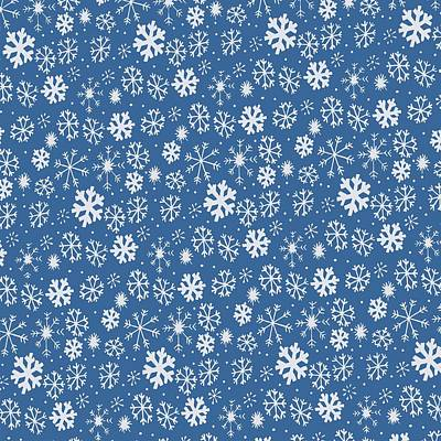 Digital Art - Snowflake Snowstorm With Sky Blue Background by Taiche Acrylic Art