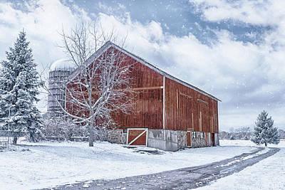Photograph - Snowing At The Farm by Kim Hojnacki