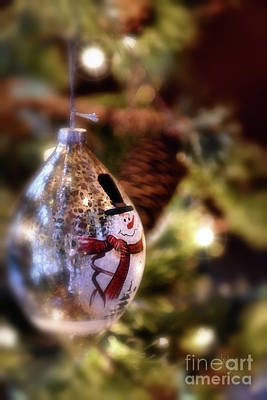 Photograph - Snowman Ornament by Lois Bryan