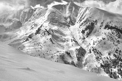 Photograph - Snowmass Mountain Peaks Black And White by Adam Jewell