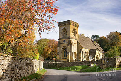 Photograph - Snowshill Church In Autumn by Tim Gainey