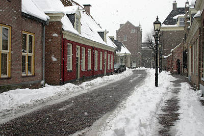 Photograph - Snowstorm - Assen, The Netherlands by Rick Veldman
