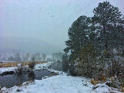 Photograph - Snowstorm At The Lake by Dan Miller
