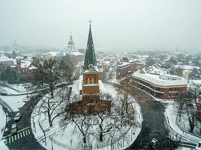 Photograph - Snowy Annapolis by Mid Atlantic Aerial