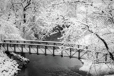 Photograph - Snowy Bridge On Mill Creek by Jeff Phillippi
