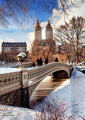 Digital Art - Snowy Central Park by CAC Graphics