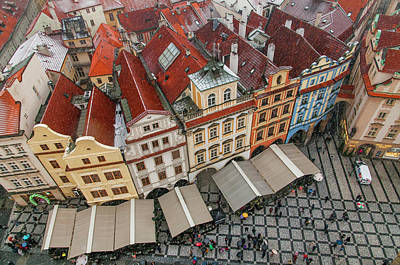 Photograph - Snowy Christmas Prague. South Side Of Old Town Square by Jenny Rainbow