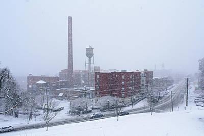 Photograph - Snowy Day On Libby Hill In Richmond Virginia by Doug Ash