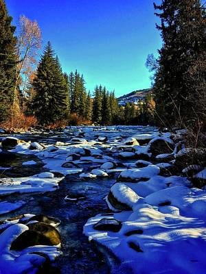 Photograph - Snowy Eagle River by Dan Miller