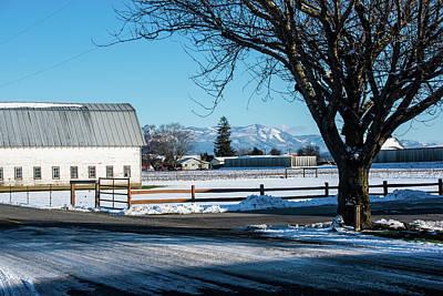 Photograph - Snowy Farm Field On Field Road by Tom Cochran