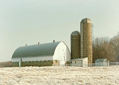 Photograph - Snowy Farm by Todd Klassy