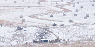 Photograph - Snowy Fields -01 by Rob Graham