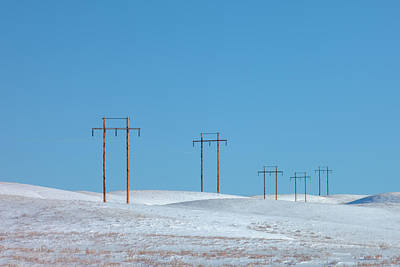 Photograph - Snowy Line by Todd Klassy