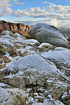 Photograph - Snowy Morning At Colorado National Monument's East Entrance by Ray Mathis