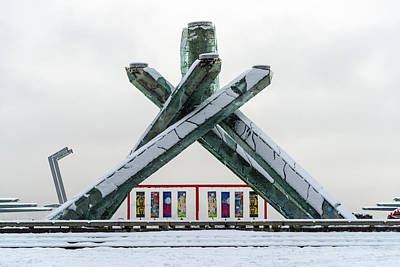 Photograph - Snowy Olympic Cauldron by Ross G Strachan