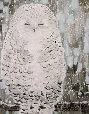 Wall Art - Painting - Snowy Owl  by Kaley Alie