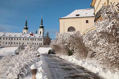 Photograph - Snowy Path To Strahov Monastery by Jenny Rainbow