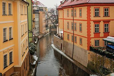 Photograph - Snowy Prague. Devil Stream by Jenny Rainbow