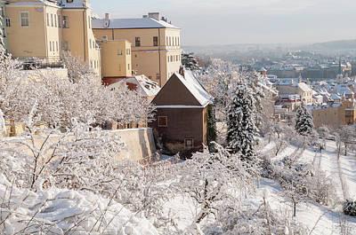 Photograph - Snowy Prague Mala Strana - Hradcany by Jenny Rainbow