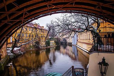 Photograph - Snowy Prague. Under Bridge by Jenny Rainbow