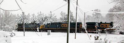 Belinda Landtroop Photos - Snowy Rails Day by Belinda Landtroop