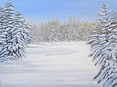 Painting - Snowy River by Kenneth M Kirsch
