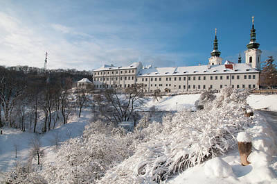 Photograph - Snowy Strahov Monastery In Prague by Jenny Rainbow