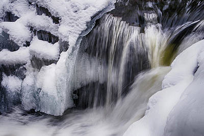 Photograph - Snowy Water Fall by Cate Franklyn