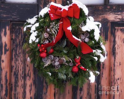 Photograph - Snowy Wreath by Alana Ranney