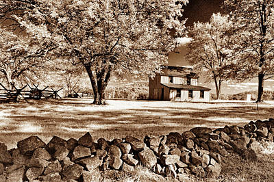 Photograph - Snyder Farm House In Infrared by Paul W Faust - Impressions of Light