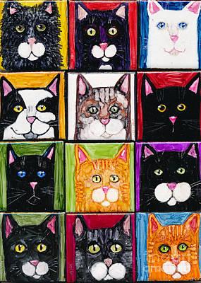 Painting - So Many Cats by Jan Killian