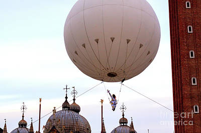 Photograph - Soaring Over Piazza San Marco In Venice by John Rizzuto