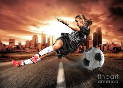 Erik Brede Rights Managed Images - Soccer Girl Royalty-Free Image by Erik Brede