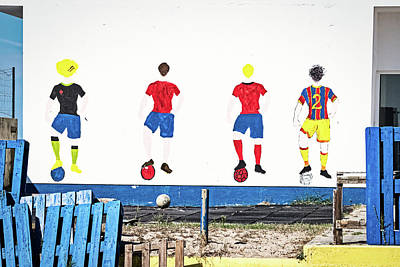 Photograph - Soccer Players Wall Art - Portugal by Stuart Litoff
