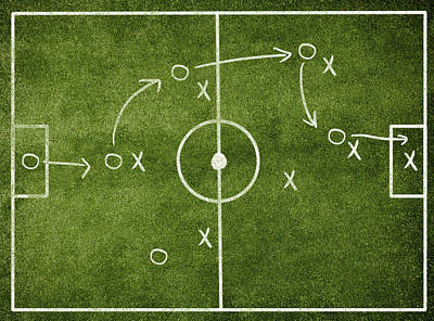 Field Photograph - Soccer Strategy by Goldmund