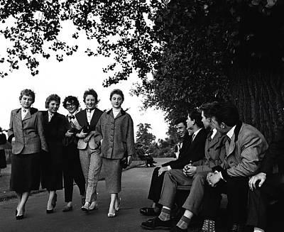 Photograph - Social History. Teddy Boys. Pic 1955 by Popperfoto