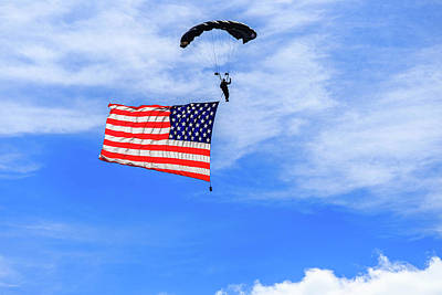 Photograph - Socom Flag Jump by Doug Camara