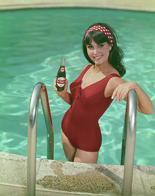 Photograph - Soda And A Swim by Tom Kelley Archive