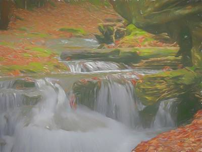 Digital Art - Soft Flowing Waterfalls. by Rusty R Smith