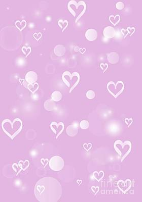 Digital Art - Soft Hearts by Rachel Hannah