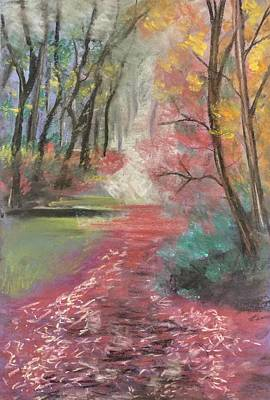 Pastel - Soft Path Of Leaves by Lisa Bunsey