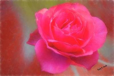 Digital Art - Soft Red Rose. by Rusty R Smith