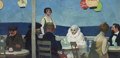 Melancholy Painting - Soir Bleu, 1914 by Edward Hopper