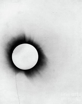 Photograph - Solar Eclipse by Arthur Stanley Eddington