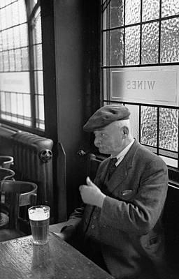 Pub Photograph - Solitary Drinker by Bert Hardy