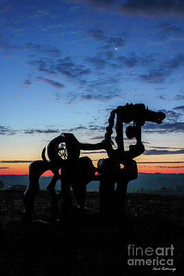 Photograph - Solitude The Iron Horse Sculpture Landscape Art by Reid Callaway